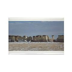 Monument Rocks Kansas Pyramids Rectangle Magnet