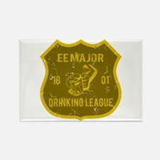 EE Major Drinking League Rectangle Magnet