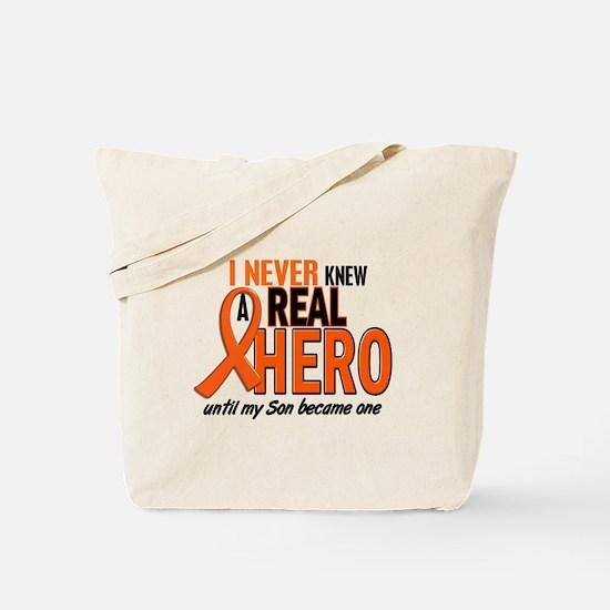 Never Knew A Real Hero 2 ORANGE Tote Bag