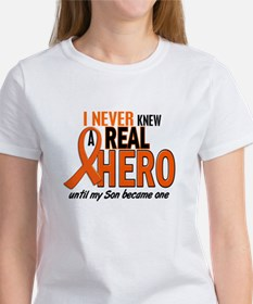 Never Knew A Real Hero 2 ORANGE Women's T-Shirt