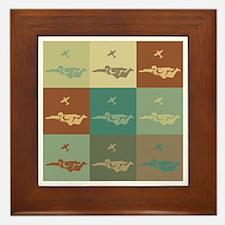 Skydiving Pop Art Framed Tile