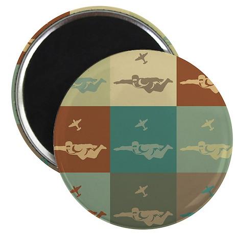 "Skydiving Pop Art 2.25"" Magnet (10 pack)"