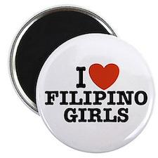 I Love Filipino Girls Magnet