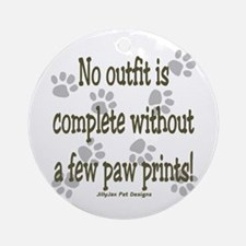 Outfit Paw Prints Ornament (Round)