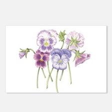 Pretty Pansies Postcards (Package of 8)