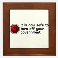 anti government Framed Tile