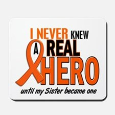 Never Knew A Real Hero 2 ORANGE Mousepad