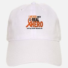 Never Knew A Real Hero 2 ORANGE Baseball Baseball Cap
