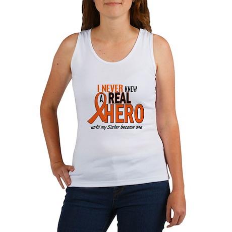 Never Knew A Real Hero 2 ORANGE Women's Tank Top