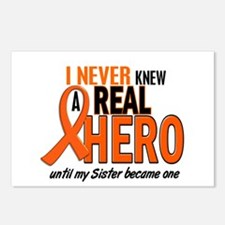 Never Knew A Real Hero 2 ORANGE Postcards (Package