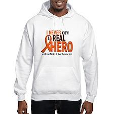 Never Knew A Real Hero 2 ORANGE Hoodie Sweatshirt