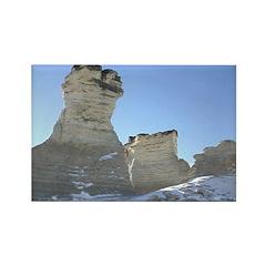 Monument Rocks Kansas Pyramid Rectangle Magnet