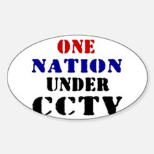 CCTV Oval Decal