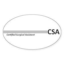 CSA Stripes Oval Decal