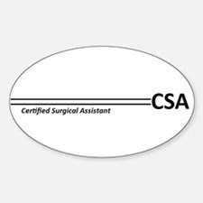 CSA Stripes Oval Decal