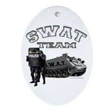 S.W.A.T. Team Oval Ornament