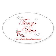 TANGO DIVA Oval Decal