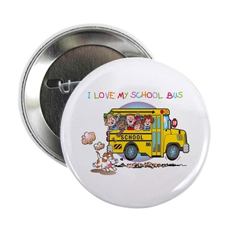 """I Love My Schoolbus 2.25"""" Button (10 pack)"""