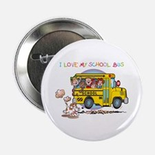 "I Love My Schoolbus 2.25"" Button (100 pack)"