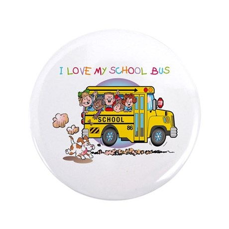 """I Love My Schoolbus 3.5"""" Button (100 pack)"""