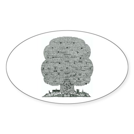 Eighties Oval Sticker