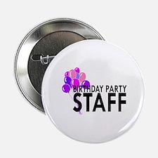 "Birthday Party Staff 2.25"" Button"