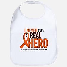 Never Knew A Real Hero 2 ORANGE Bib