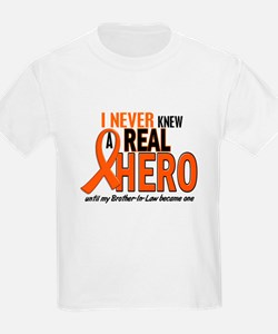 Never Knew A Real Hero 2 ORANGE T-Shirt