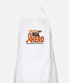 Never Knew A Real Hero 2 ORANGE BBQ Apron