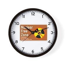 Nuclear Free Zone, USA Wall Clock