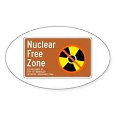 Nuclear Free Zone, USA Oval Decal