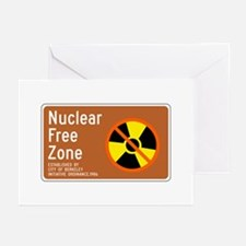 Nuclear Free Zone, USA Greeting Cards (Pk of 10)