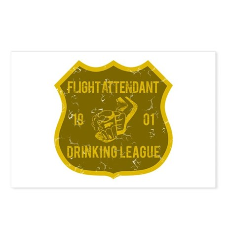 Flight Attendant Drinking League Postcards (Packag