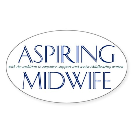 Oval Sticker for Aspiring Midwives