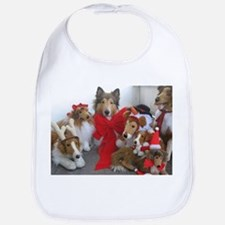 Christmas Collies Bib