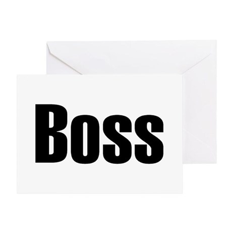 Boss Greeting Card