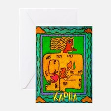 Cute Lotus art Greeting Card
