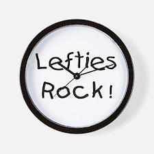 Lefties Rock! Wall Clock