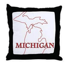 Unique State of michigan Throw Pillow