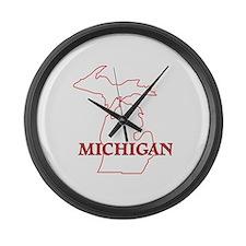 Cute Upper michigan yooper Large Wall Clock