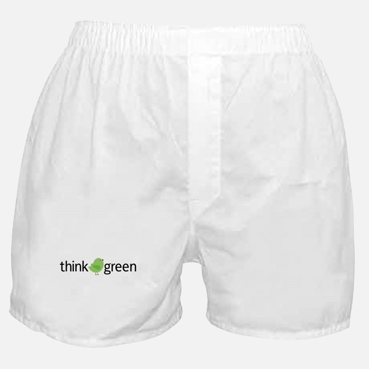 Think Green Bird Boxer Shorts