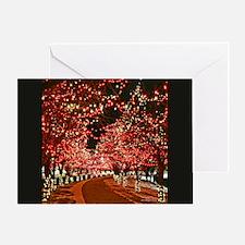 Red Christmas Lane Greeting Card