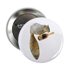 "Squirrel Champagne 2.25"" Button"
