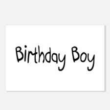Birthday Boy Postcards (Package of 8)