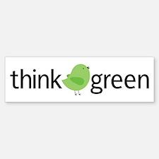 Think Green Bird Bumper Bumper Bumper Sticker