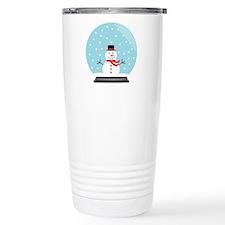 Snowman in a Snow Globe Travel Mug