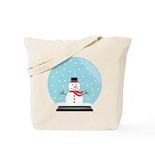 Snowman in a Snow Globe Tote Bag