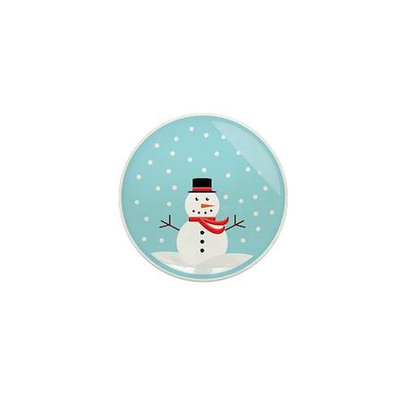 Snowman in a Snow Globe Mini Button (10 pack)