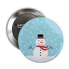 "Snowman in a Snow Globe 2.25"" Button"