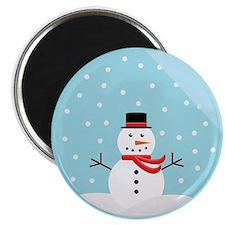 Snowman in a Snow Globe Magnet